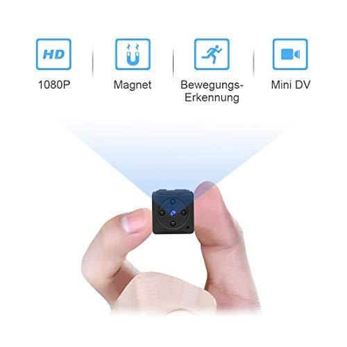MiniKamera, MHDYTHD1080PSuperKleineNannyCam, TragbareMikroÜberwachungskameramitBewegungsmelderundInfrarotNachtsicht, CompactAkkuKameras für InnenundAussen