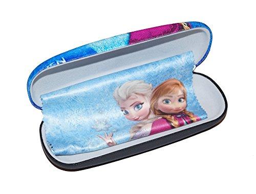 süßes Brillenetui für Kinder   Anna und Elsa inkl Microfasertuch - Hartschalenetui mit Metallscharnier