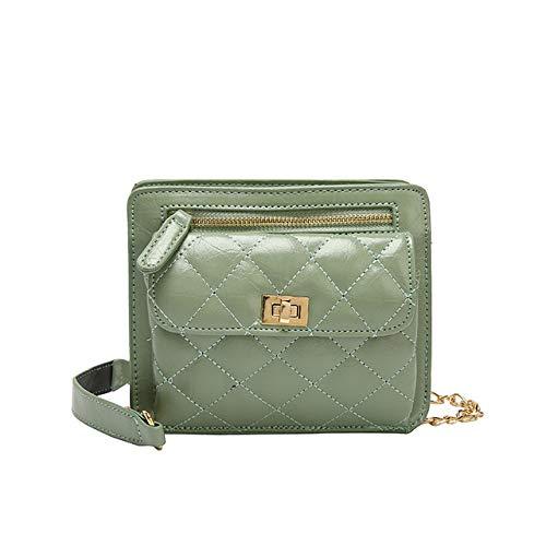 QIANHEDAMAI Schulter Damen Umhängetasche Kette Tasche Gesteppte Kleine Handtasche Mode Weibliche Tasche Reißverschluss