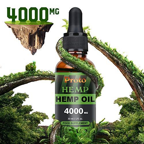 ProtoHemp Reines und hochfestes natürliches Hanföl 4000mg