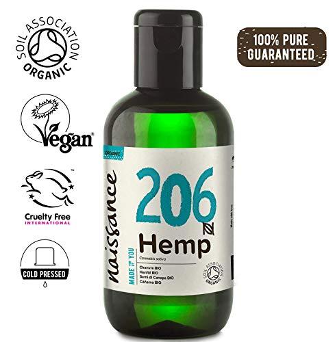 Naissance Hanfsamenöl BIO (Nr. 206) 100ml - nativ, kaltgepresst, 100% rein - vegan und tierversuchsfrei - reich an Omega-3 und Omega-6